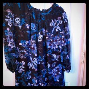 Eva Mendes Floral Dress small